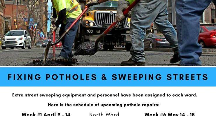 City of Newark – 2018 Pothole Repair Schedule
