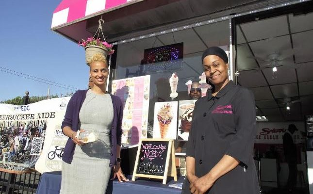 Salaam Ice Cream Parlor Hosts After Work Network Event  NCEDC and South Ward SID partner to promote local shopping, business networking.